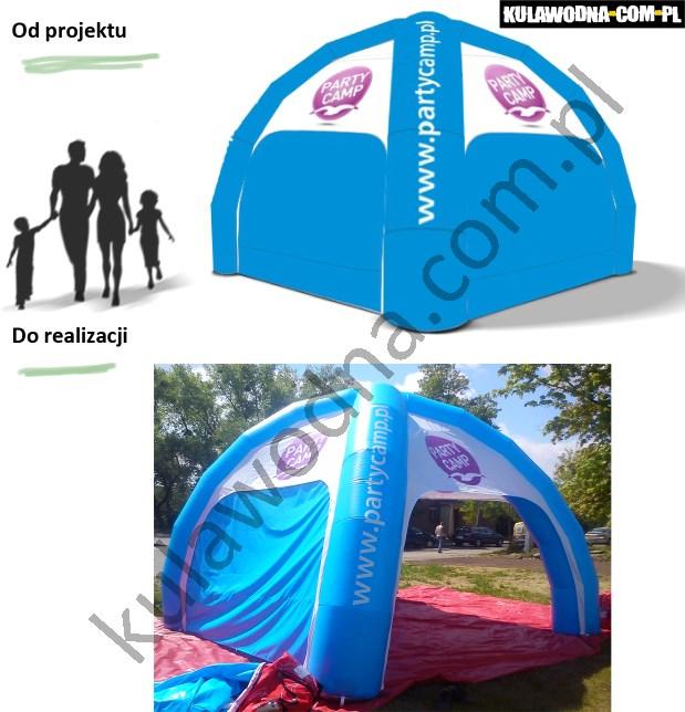 Realizacja namiotu reklamowego dla organizatora wyjazdów studencjich Party Camp