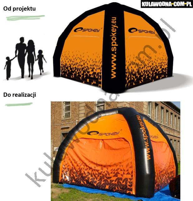 Realizacja namiotu reklamowego dla firmy produkujące sprzęt sportowy Spokeu