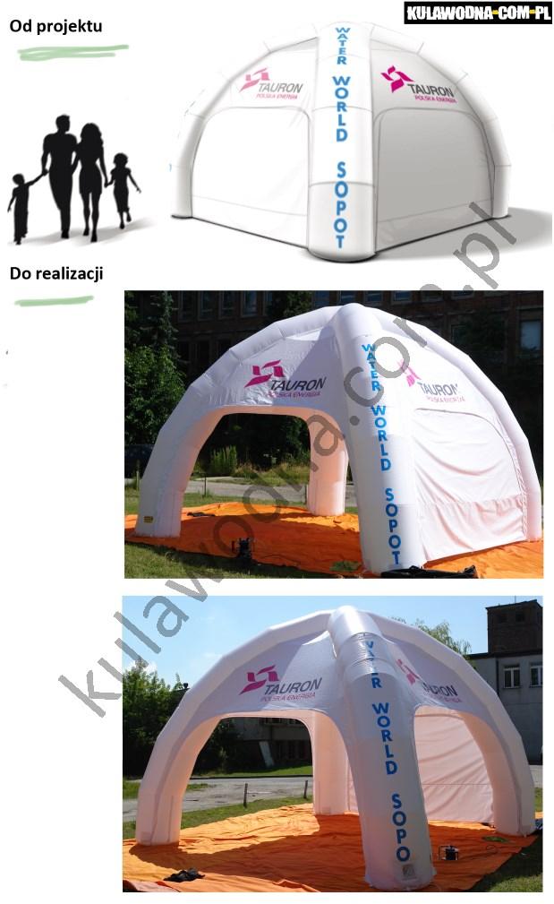 Realizacja namiotu reklamowego dla firmy Tauron