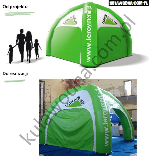 Realizacja namiotu reklamowego dla firmy LeroyMerlin